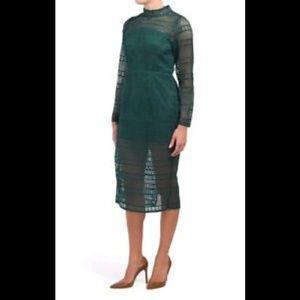 Anthropology Vone lace Sheath Emerald dress,XL,new